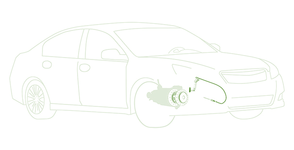 Image of a vehicle outlining where the clutch is - Clutches Nottingham